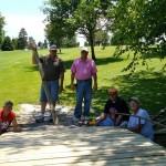 Left to Right: Volunteers Stan Friesen, Terry Bergen, Scott Nissan, Glen Larson, & Burton Peters