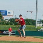 Steve Michel throwing out the 1st pitch