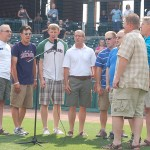 A*MEN singing the National Anthem