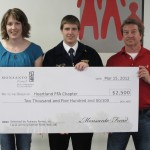 Heartland FFA Receives Award from Monsanto [PHOTO]