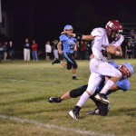 Senior Lincoln Ruybalid carrying the ball against the Wildcats last Friday night. (Photo Courtesy of Whitney Ruybalid)