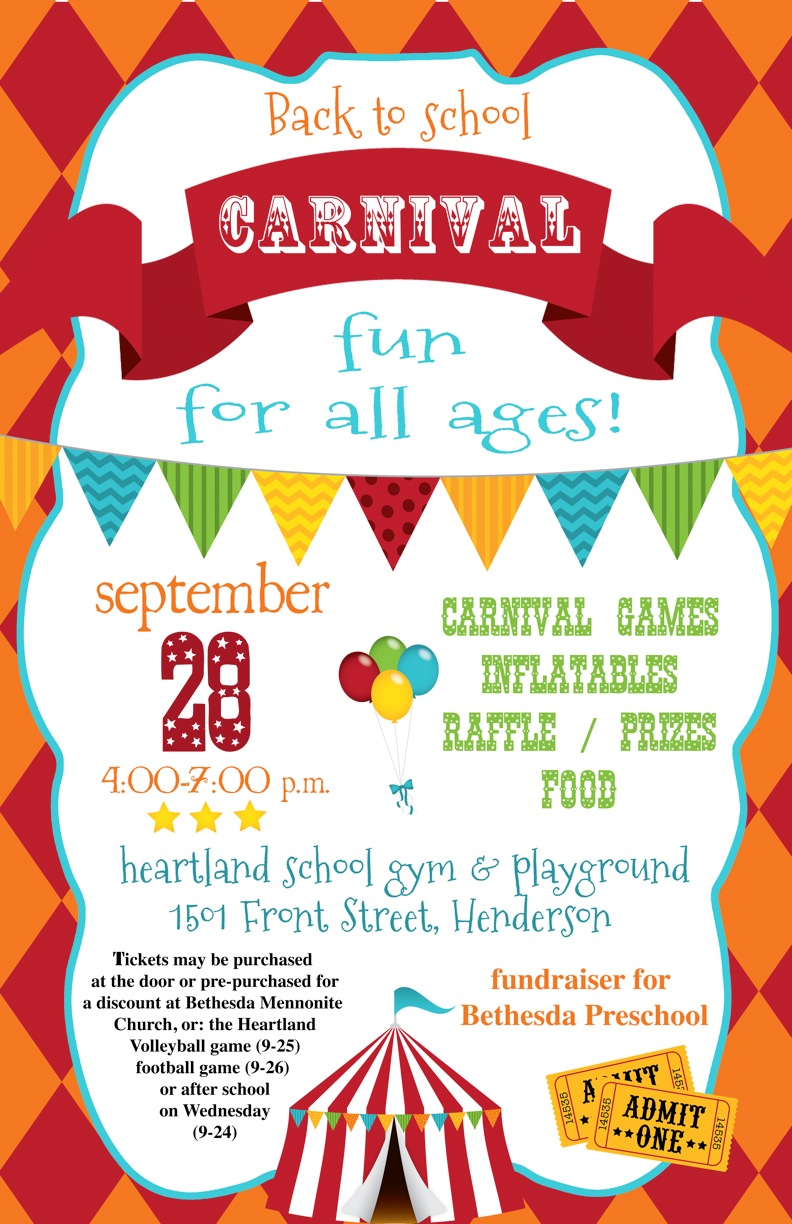 Mark Your Calendars for the Back to School Carnival [POSTER ...