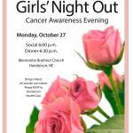 Cancer Awareness Evening: Girls' Night Out