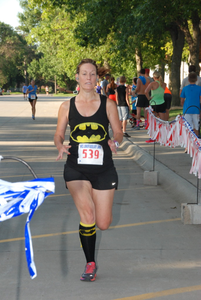 Lisa Quiring was awarded the prize for best super hero costumed runner in keeping with the Henderson Community Days theme. She also placed 2nd in her age group.