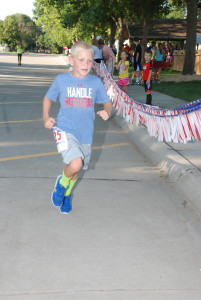 Eight-year-old Trent Goertzen, son of Nate and Michelle Goertzen, who participated with his mom in the 5K, was the youngest participant in the event.